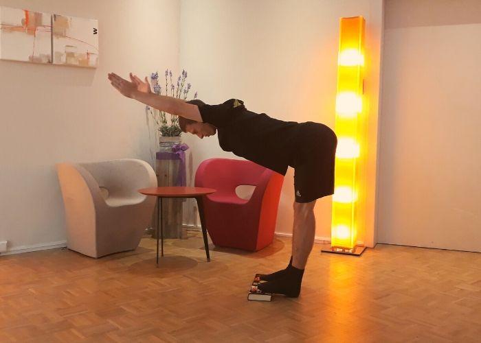 Dominik beim fle-xx Beweglichkeitstraining