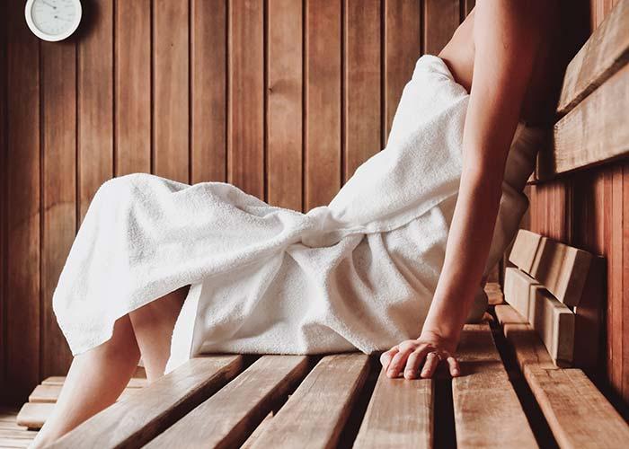 Aufgüse in unserer Verso Sauna