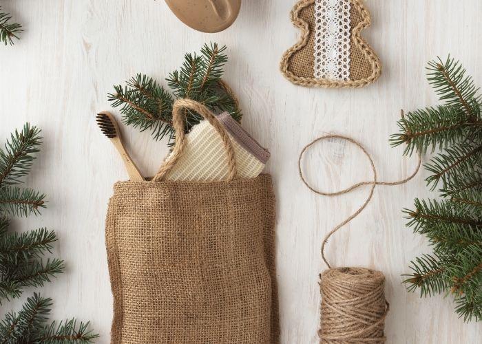 Nachhaltige Geschenkverpackungen Sisalsäckchen plastikfrei